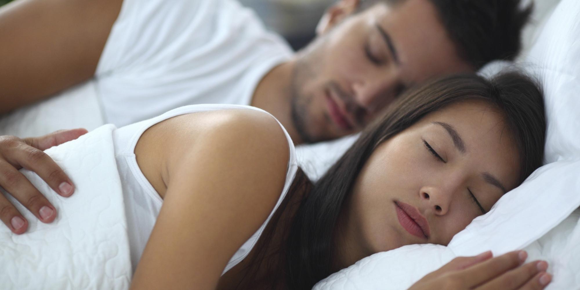 Sleeping couple.
